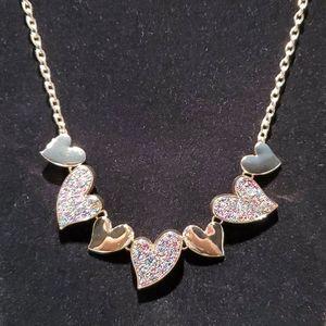💝 Multi color heart necklace